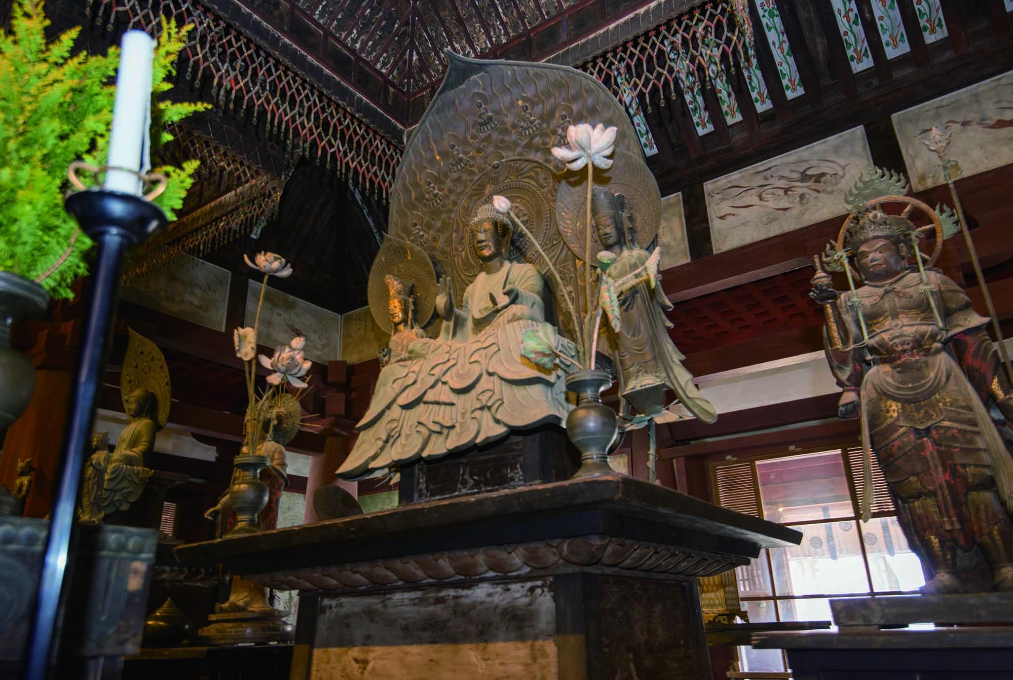 金堂 尊像 法隆寺 釈迦 三